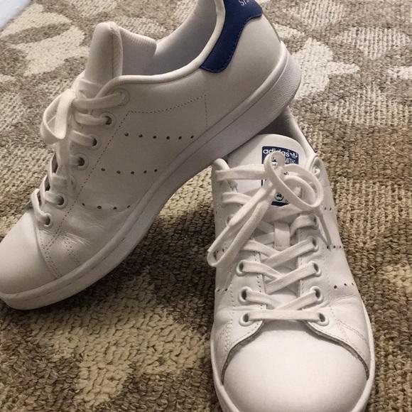 adidas stan smith scarpe bianco blu poshmark